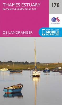 Ordnance Survey,Thames Estuary, Rochester & Southend-on-Sea