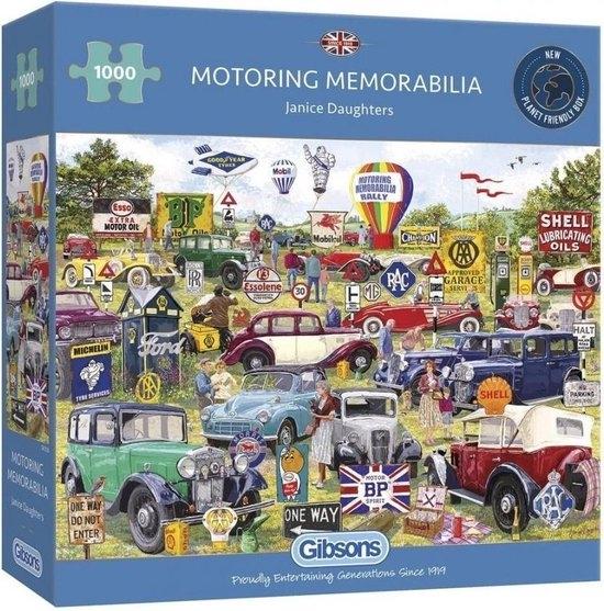 Gib-g6306,Puzzel motoring memorabilia -gibsons-1000 stuks