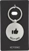 444326-5 , Sleutelhanger rond metaal best dad