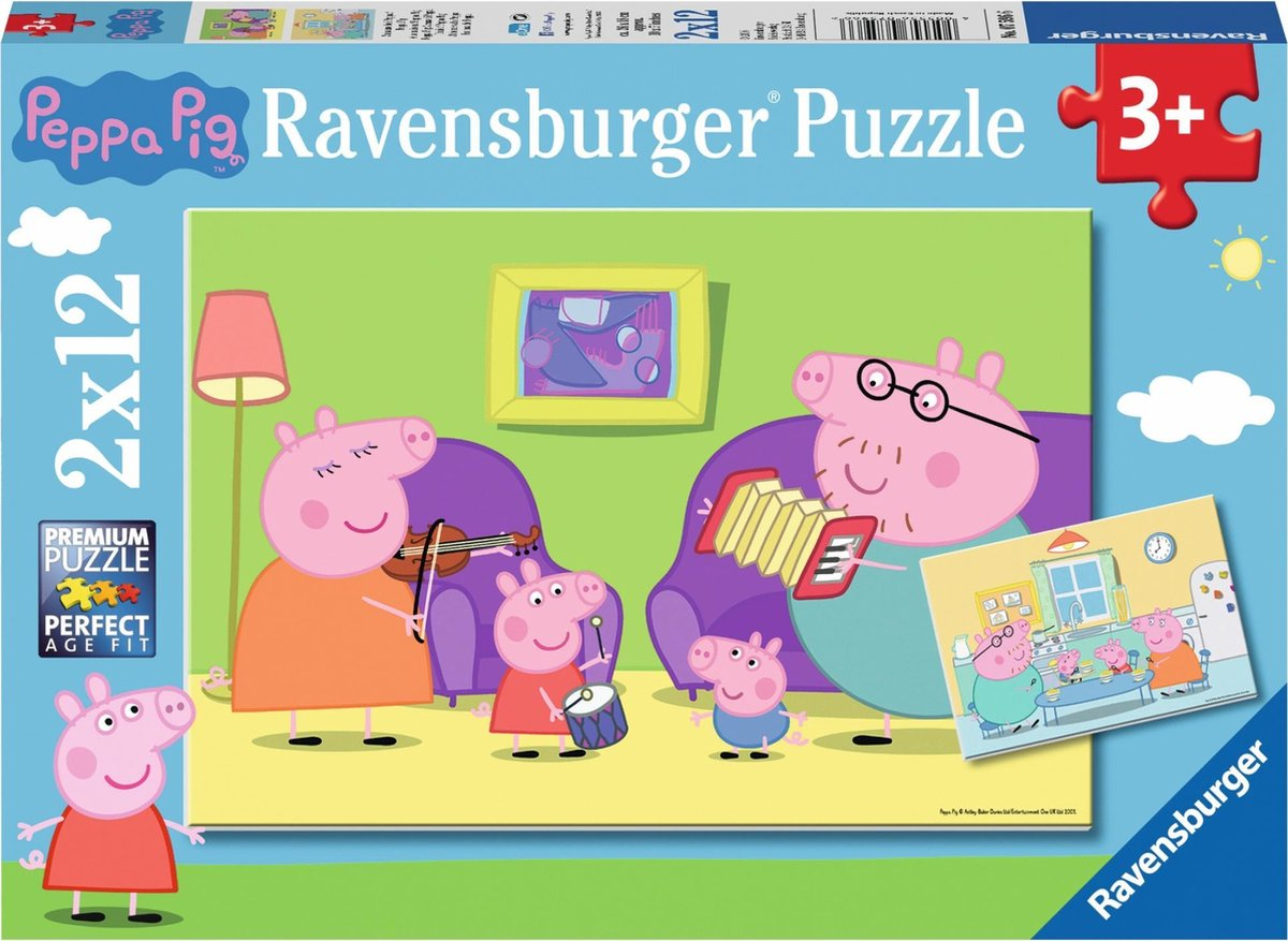 ,Puzzel peppa pig 2x 12 stuks