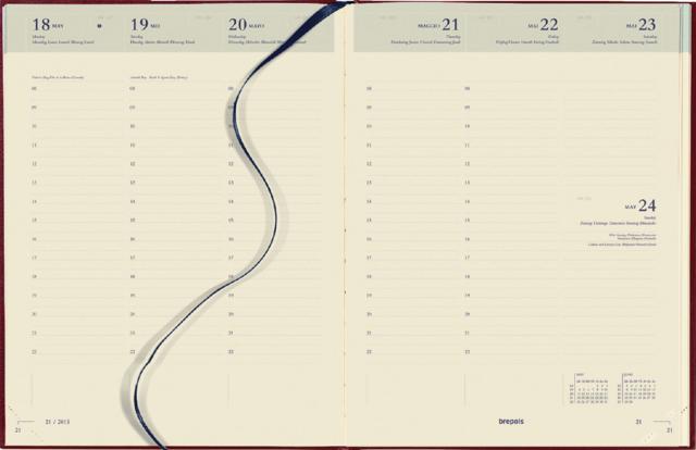 ,Agenda 2022 Brepols Concorde 7dag/2pagina bordeaux