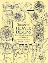 Susan Gaber Treasury of Flower Designs for Artists, Embroiderers and Craftsmen