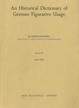 Keith Spalding An Historical Dictionary of German Figurative Usage, Fascicle 48