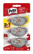 , Correctieroller Pritt compact flex 4.2mm x 10m blister 2+1 gratis