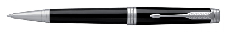 ,Balpen Parker Premier Lacquer deep black ST M