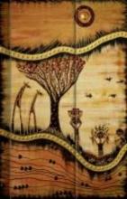 Premium Notes Small African Art Landschaft
