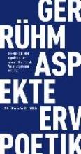 Rühm, Gerhard Aspekte einer erweiterten Poetik