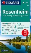 KOMPASS-Karten GmbH , KOMPASS Wanderkarte Rosenheim, Bad Aibling, Wasserburg am Inn 1:50 000