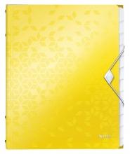 , Sorteermap Leitz WOW 12-delig PP geel
