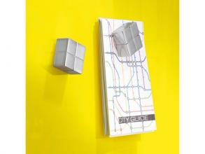 , magneet voor glasbord Sigel 20x20x10mm zilver extra sterk 1 stuk