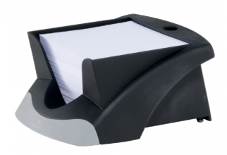 , Memokubus Vegas 90x90mm zwart met 500vel