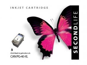 , Cartridge SecondLife Canon PG 40 zwart