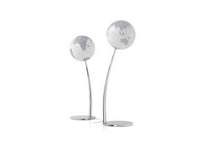 , globe Stem Reflection 30cm diameter op staander met         verlichting