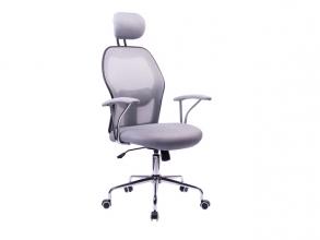 , Moderne bureaustoel, Kangaro. In hoogte verstelbaar, in     creme/grijze uitvoering