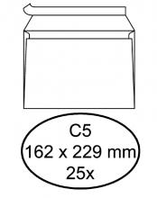 , Envelop Quantore bank C5 162x229mm zelfklevend wit 25stuks