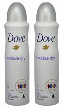 , Deodorant Dove Invisible Dry 2x150ml
