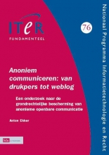 A.  Ekker ITeR-reeks Annoniem communiceren: van drukpers tot weblog