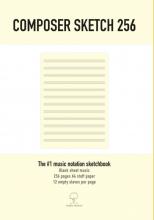 Sophia Martins , Composer Sketch 256 - A4 Muziekpapier met lege notenbalken