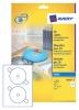 ,<b>Etiket Avery C9660-25 CD hoog glans 50stuks</b>