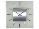 <b>Wandklok Nextime 40 x 40 cm, melkglas, `Stripe Square`      Radio Controlled</b>,