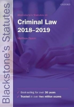 Blackstone`s Statutes on Criminal Law, 2018-2019