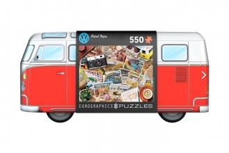 Eur-8551-5576 , Puzzel in blik- vw road trips - 550 stuks