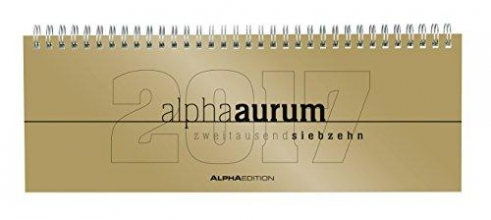 Tisch-Querkalender 2017 alpha aurum