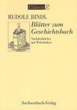 Bindl, Rudolf Blätter zum Geschichtsbuch