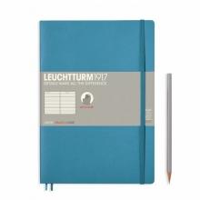 Lt355301 , Leuchtturm notitieboek composition softcover 178x254 mm lijn nordic blauw