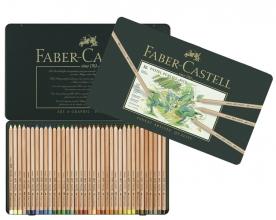 , pastelpotlood Faber-Castell Pitt metalen etui a 36 stuks