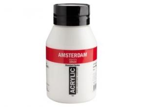 Talens amsterdam acrylverf pot 1000 ml.titaanwit 105