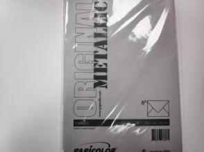 , Envelop Papicolor EA5 156x220mm metallic pearl-platinum