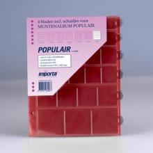 0816r , Importa populair muntalbumbladen 4 stuks mix rode schutbladen