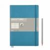<b>Lt355301</b>,Leuchtturm notitieboek composition softcover 178x254 mm lijn nordic blauw