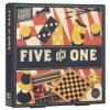 <b>Pp1672</b>,Five in one houten spellen