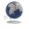 , globe iGlobe Blue 25cm diameter metaal/chroom
