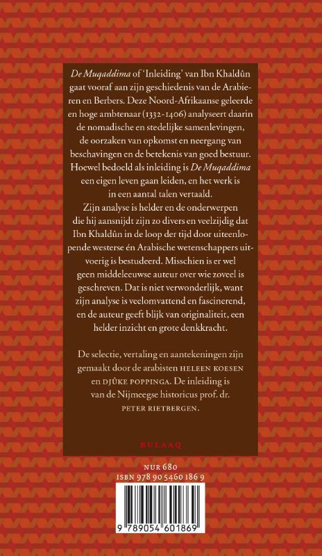 Ibn Khaldûn,De Muqaddima