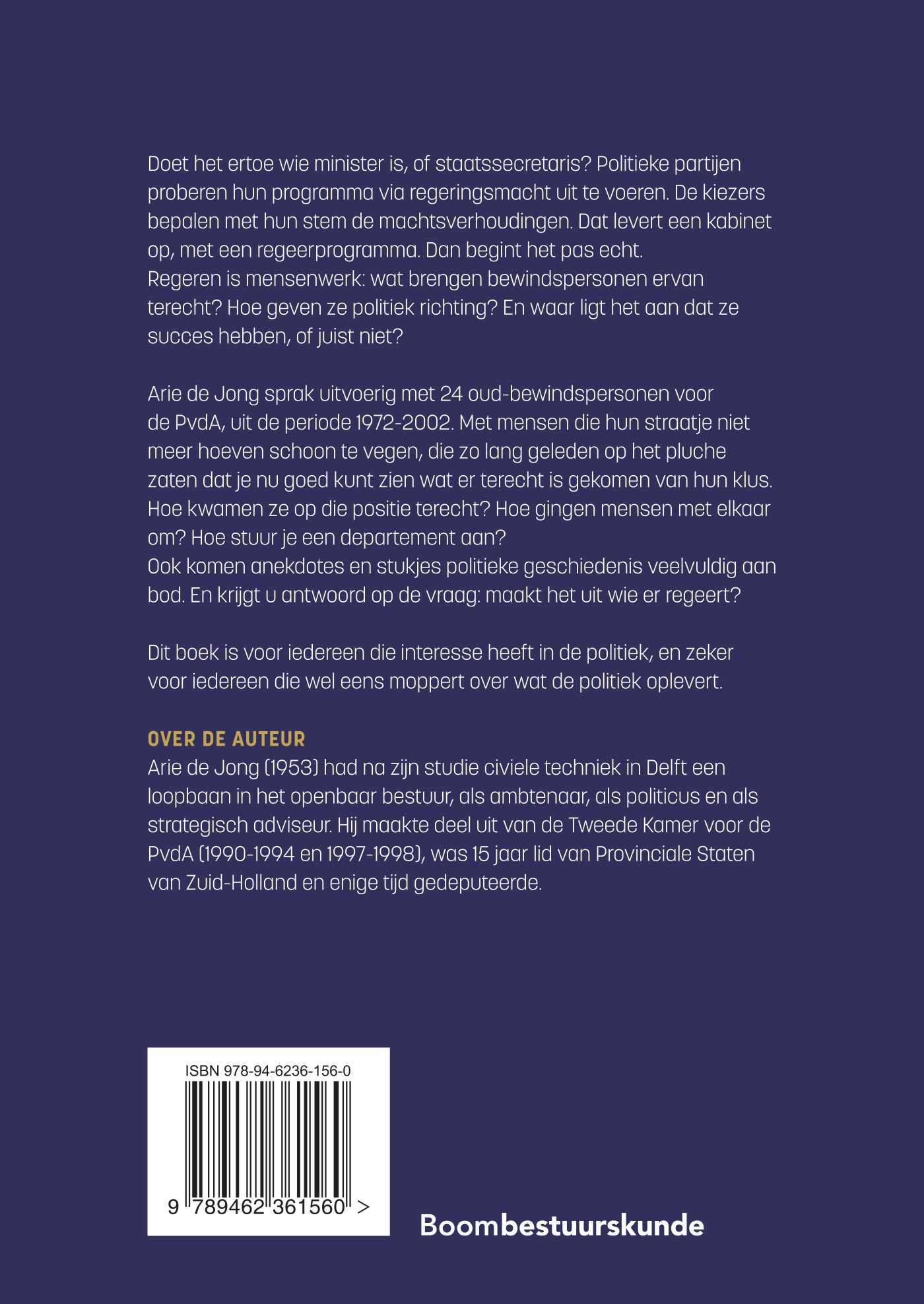 Arie de Jong,Wat het uitmaakt