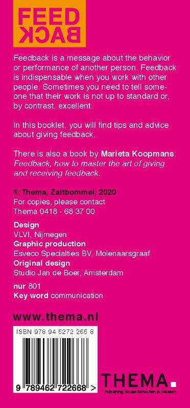 Marieta Koopmans,Feedback