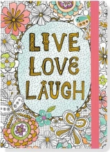 Live, Love, Laugh Coloring Journal