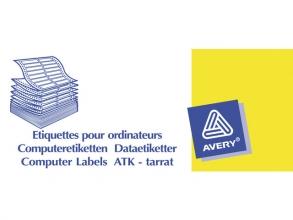 , Etiket Avery Zweckform T1516 89x23.4mm 1-baans wit 6000stuks