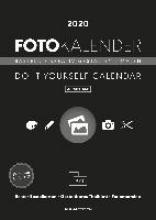 Foto-Bastelkalender schwarz aufstellbar 2020