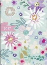 Taschenkalender Flowers 2017. 2 Seiten = 1 Woche, 100 x 140 mm