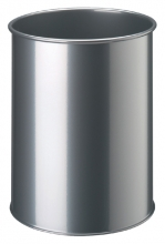 , Papierbak Durable 3301-23 15liter rond zilvermetallic