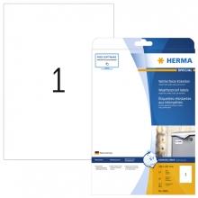 , Etiket Herma 4866 210x297mm A4 folie 10st wit