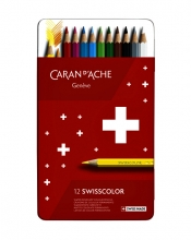 , Kleurpotloden Caran d`Ache Swisscolor 12stuks ass