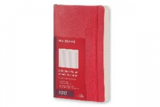 MOLESKINE TAGESKALENDER 2017 L/A5, SOFT COVER, SCHARLACHROT