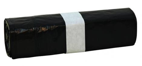 , Afvalzak Euro met trekband zwart 500st