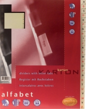 , Tabbladen Multo A4 23-rings 24-delig A-Z karton chamois