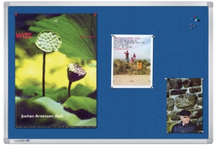 , Textielbord Legamaster Universal 90x120cm blauw